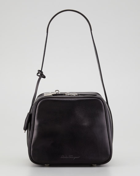 Beck Boxy Shoulder Bag, Black