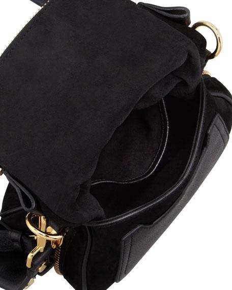 Jennifer Suede Mini Crossbody Bag, Black