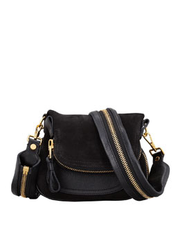 Tom Ford Jennifer Suede Mini Crossbody Bag, Black