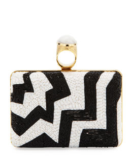 Tom Ford Beaded Ring Clutch Bag