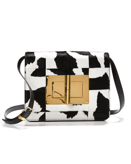 Natalia Large Patchwork Calf Hair Clutch Bag