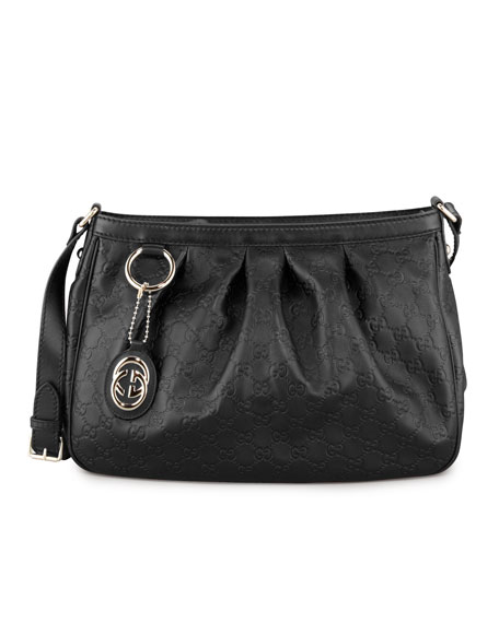 Sukey Guccissima Leather Messenger Bag, Black