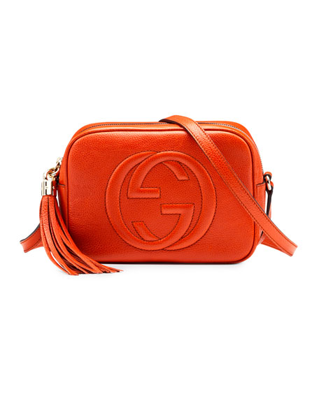 Soho Leather Disco Bag, Orange
