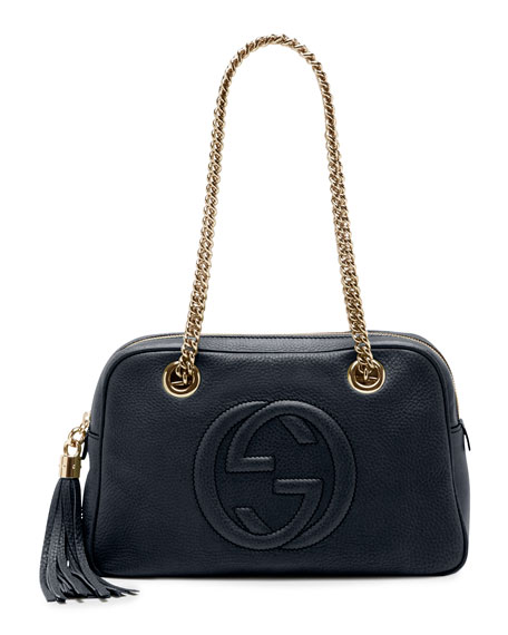 263ddaf1ebd77e Gucci Soho Chain 308982 Leather Tote in Black Image 0 ... Gucci Soho Chain  Crossbody Bag Leather Medium For Sale. bolsa feminina gucci soho disco ...