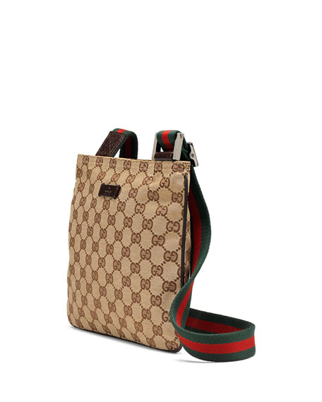 Gucci Original Gg Canvas Messenger Bag With Signature Web