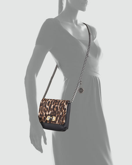 Mini Poppy Crossbody Bag, Leopard