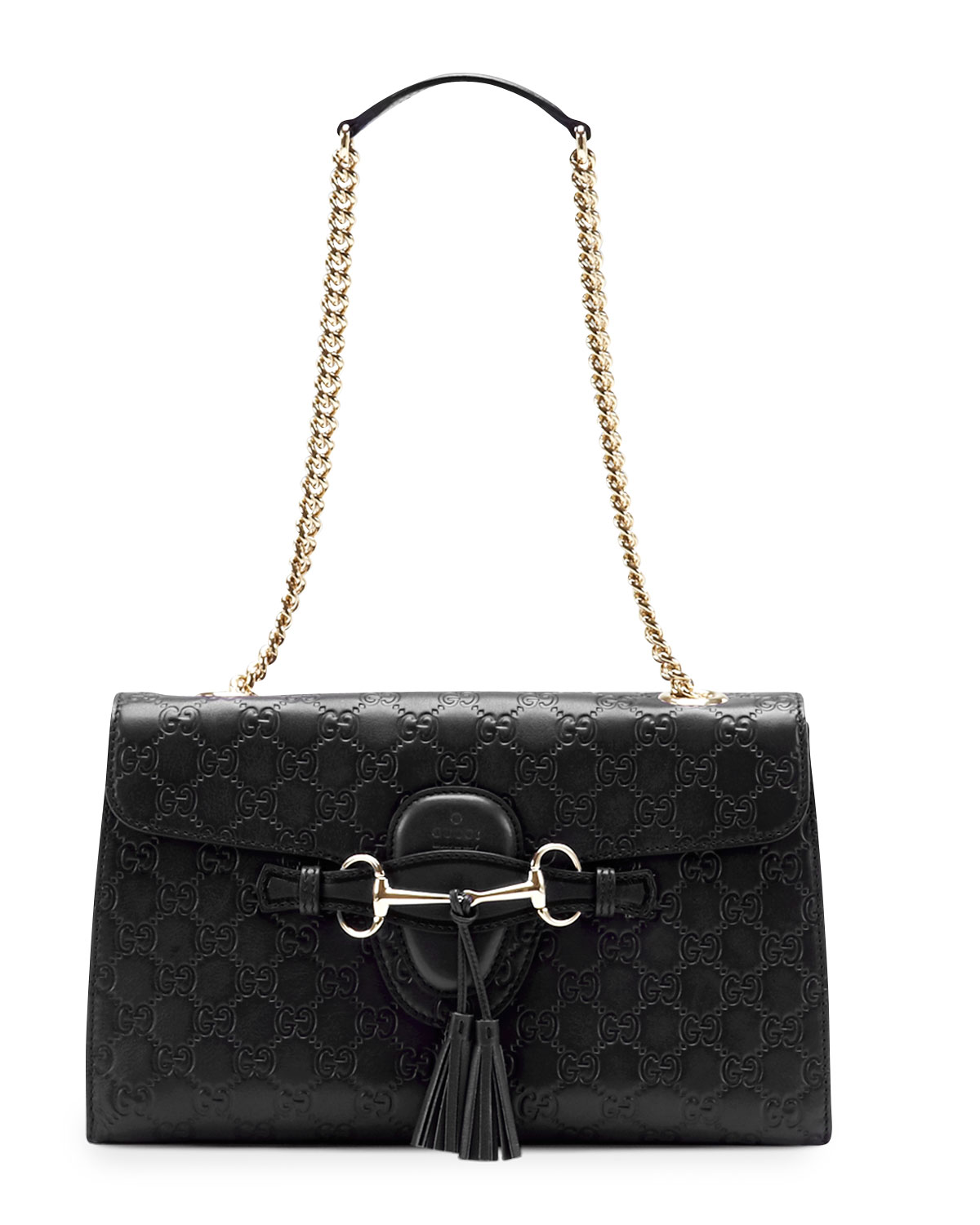 418f3ecc74b Gucci Emily Guccissima Leather Chain Shoulder Bag
