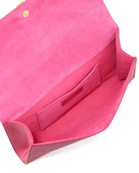 Y Ligne Clutch Bag, Pink