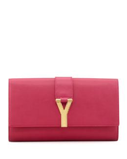 Saint Laurent Y Ligne Clutch Bag, Pink
