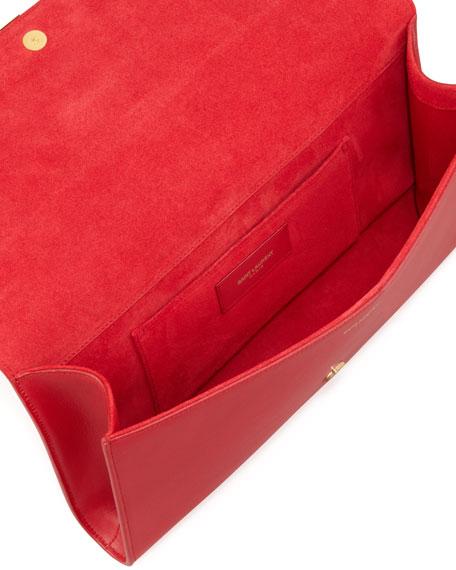 Y Ligne Clutch Bag, Red