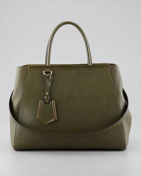 2Jours Medium Tote Bag, Olive
