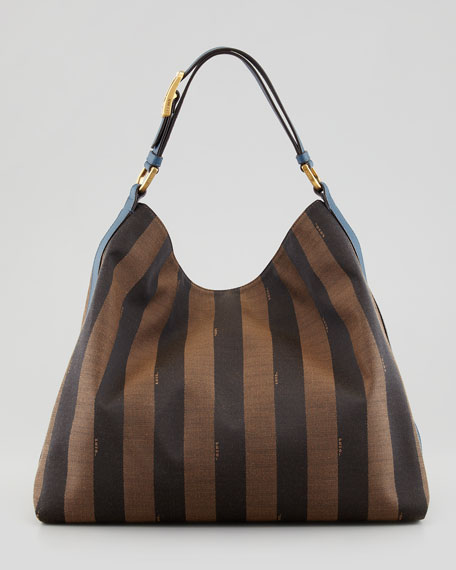 Pequin Borsa Hobo Bag, Brown/Blue