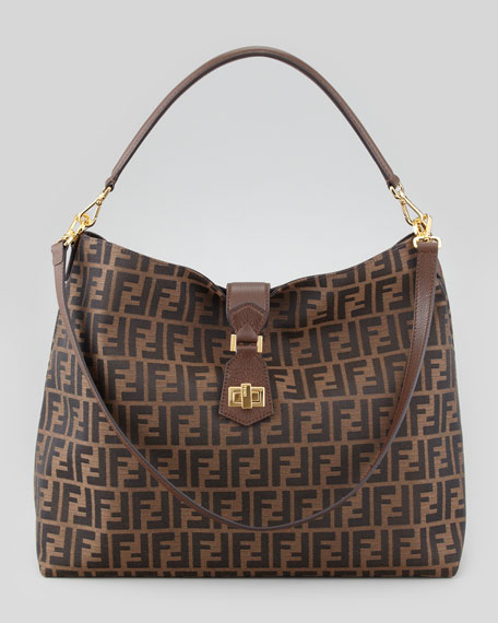 57e48d50e9c5 ... store fendi zucca large hobo crossbody bag brown f67e5 58607