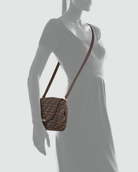 Zucca Small Crossbody Bag, Brown