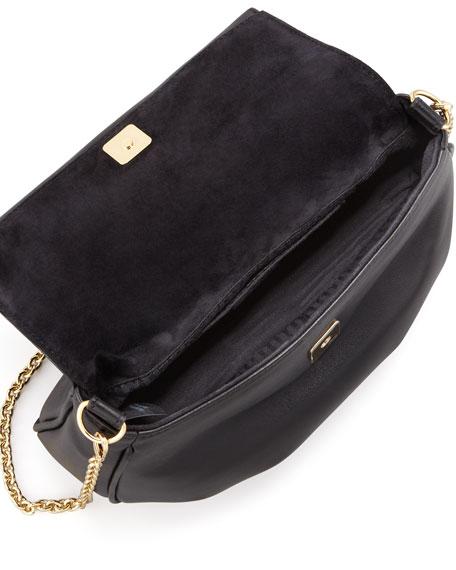 Fendista Pochette Crossbody Bag, Black
