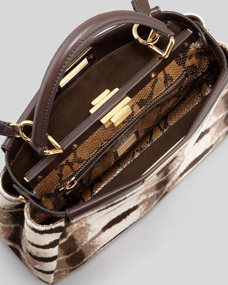 Peekaboo Python-Lined Calf Hair Bag