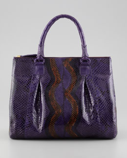 Nancy Gonzalez Executive Python &  Crocodile Tote Bag, Purple