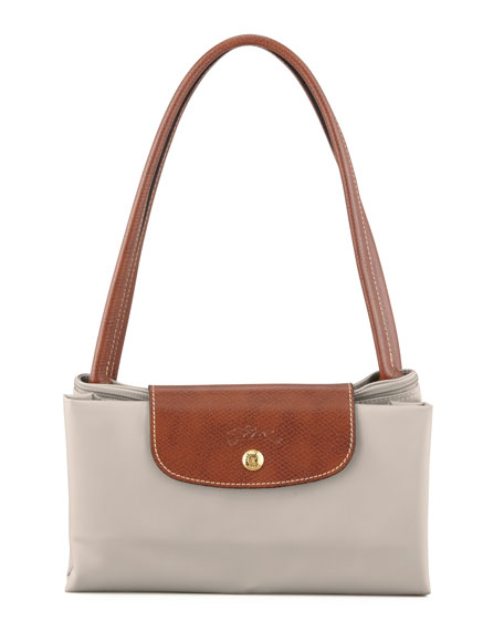 Le Pliage Large Shoulder Tote, Light Gray