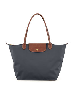 Longchamp Le Pliage Large Nylon Shoulder Tote Bag, Dark Gray