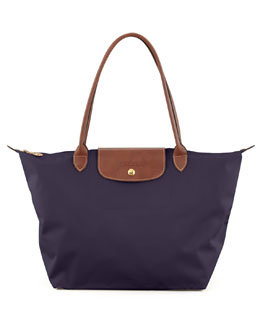 Longchamp Le Pliage Large Shoulder Tote Bag, Purple