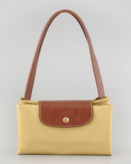 Le Pliage Large Nylon Shoulder Tote Bag, Yellow