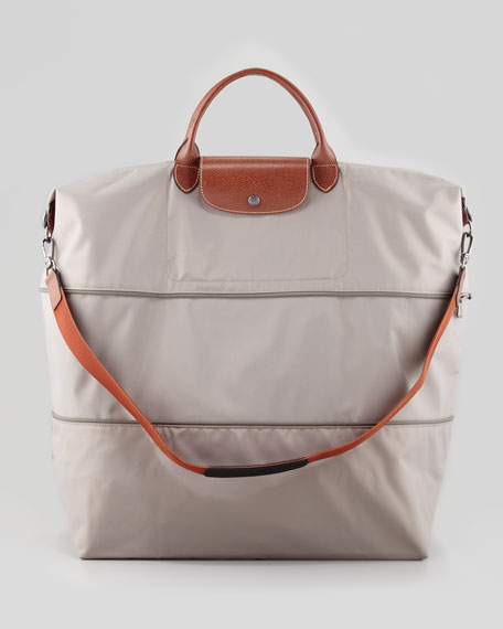 Le Pliage Expandable Travel Tote Bag, Light Gray