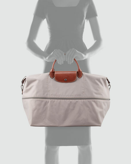 Le Pliage Expandable Travel Tote Bag, Light Gray