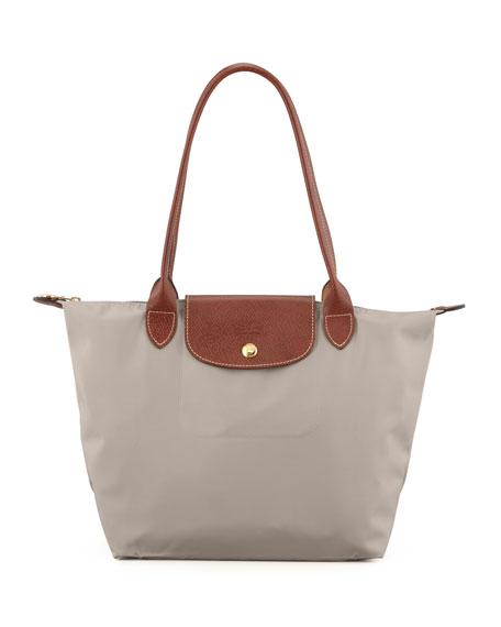Le Pliage Small Shoulder Tote Bag, Gray