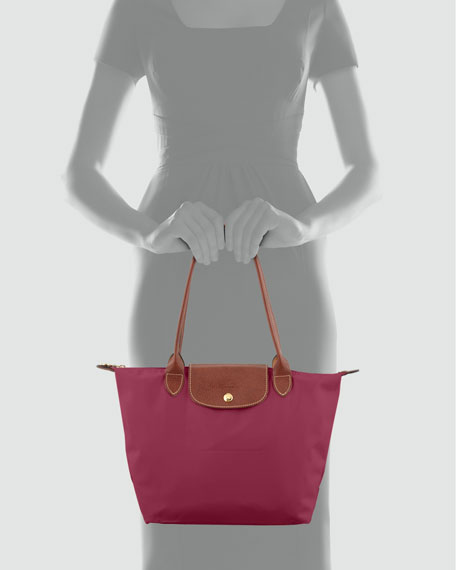 Le Pliage Small Shoulder Tote, Fuchsia