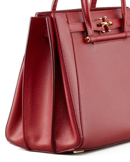 Madison Leather Tote Bag, Red