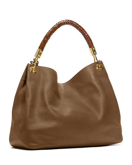 Large Skorpios Grained Shoulder Bag