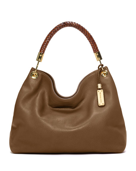 Large Skorpios Grained Shoulder Bag