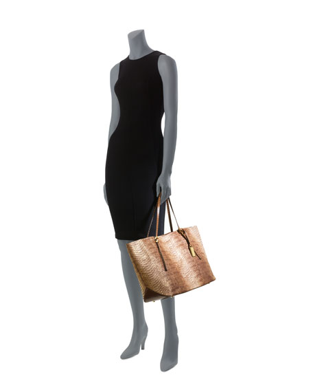 Gia Snake-Embossed Tote