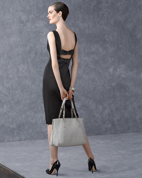 cobble hill andee expandable tote bag, gray