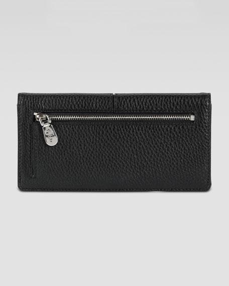 Village Slim Leather Wallet, Black