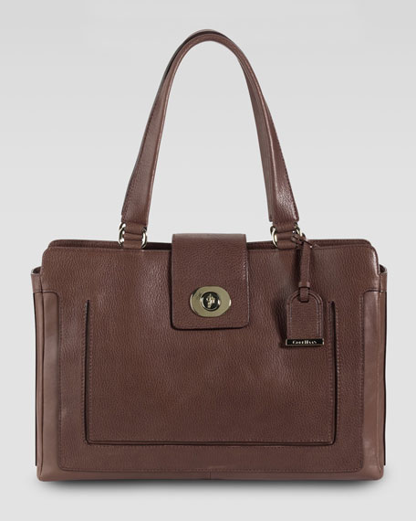 Lafayette Leather Tote Bag, Sequoia Brown