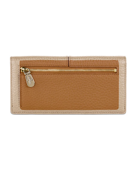 Village Slim Leather Wallet, Camello Tan