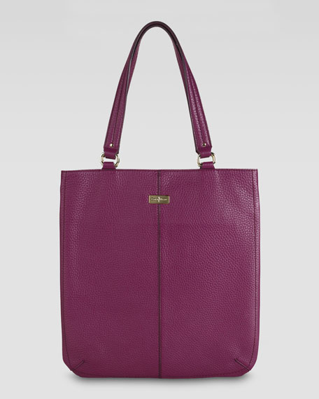 Village Flat Tote Bag, Wineberry