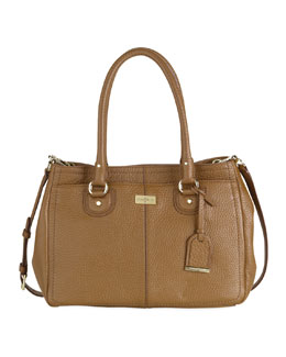 Cole Haan Village East-West Snap Satchel, Camello Tan