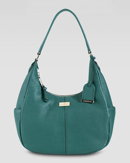 Village Small Rounded Hobo Bag, Pendant Teal