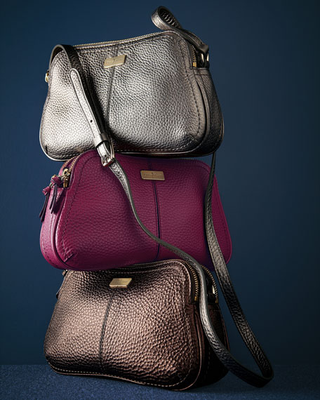 Cole Haan Village Double Zip Crossbody Bag, Silver