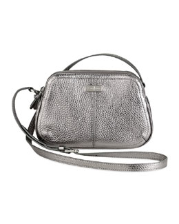 Cole Haan Village Double Zip Crossbody Bag, Silver