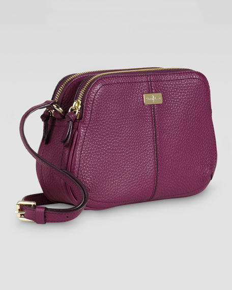 Village Double Zip Crossbody Bag, Wine