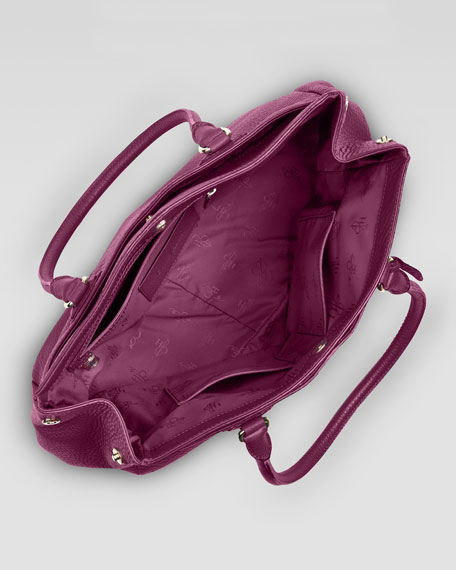 Village East-West Snap Satchel Bag, Wine