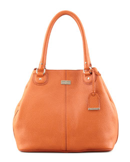 Cole Haan Village Convertible Leather Tote Bag, Orange