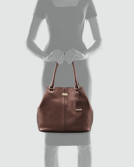 Village Convertible Leather Tote Bag, Brown