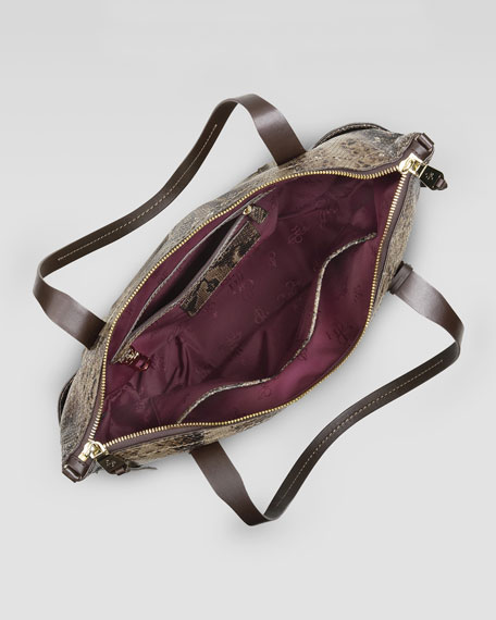 3681600a9 Cole Haan Parker Zip-Top Shopper Tote Bag, Snake Print