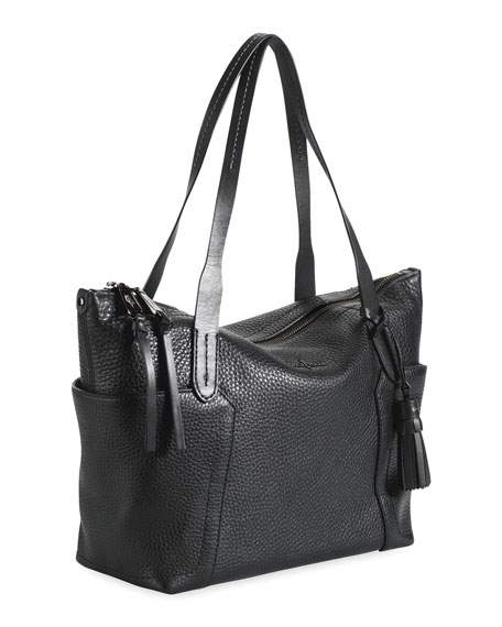 Parker Zip-Top Shopper Tote Bag, Black
