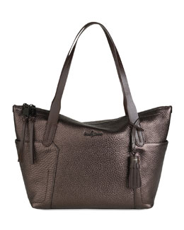 Cole Haan Parker Zip-Top Shopper Tote Bag, Brown