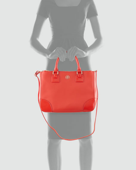 Robinson Double-Zip Tote Bag, Poppy Red